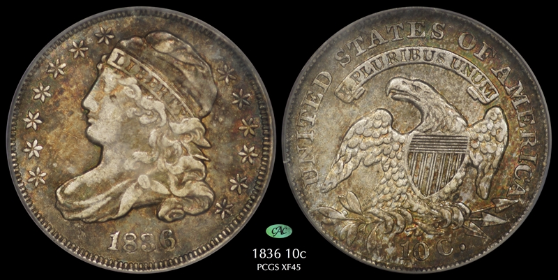 GFRC Open Set Registry - Pasadena 1836 Capped Bust  10C