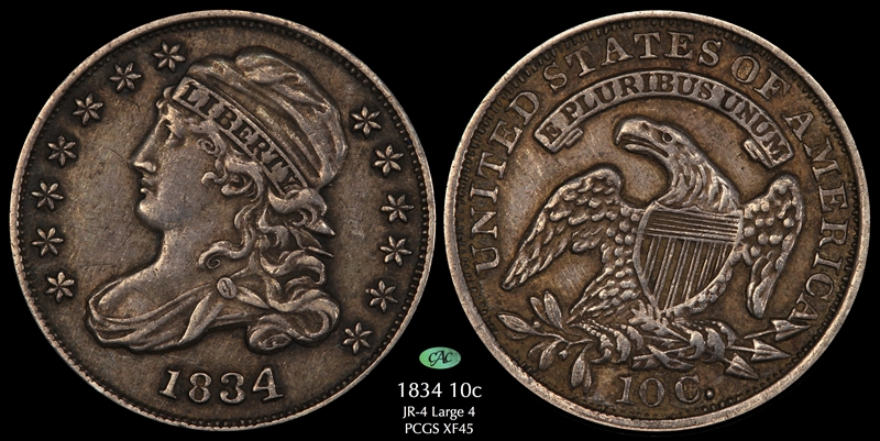 GFRC Open Set Registry - Pasadena 1834 Capped Bust  10C