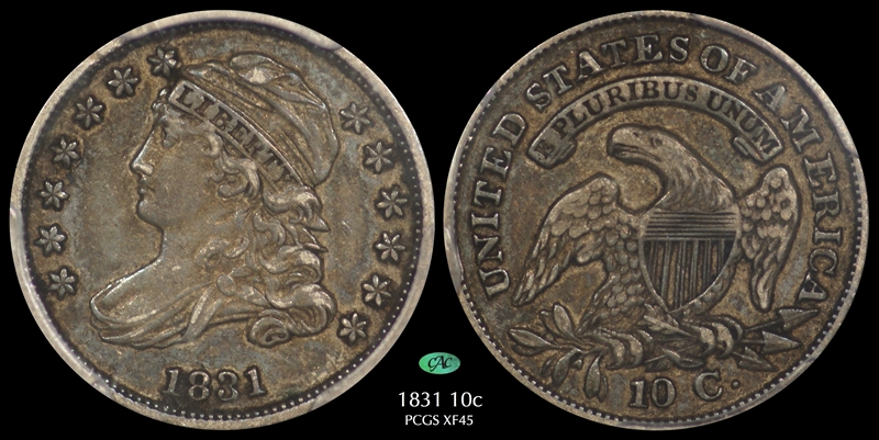 GFRC Open Set Registry - Pasadena 1831 Capped Bust  10C