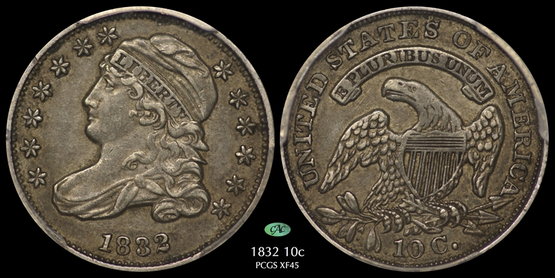 GFRC Open Set Registry - Pasadena 1832 Capped Bust  10C