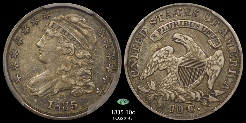 GFRC Open Set Registry - Pasadena 1835 Capped Bust  10C
