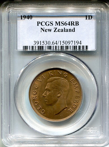 New Zealand Coin 1 Penny 1942 Ngc Ms 62 Bn Coins & Paper Money New Zealand