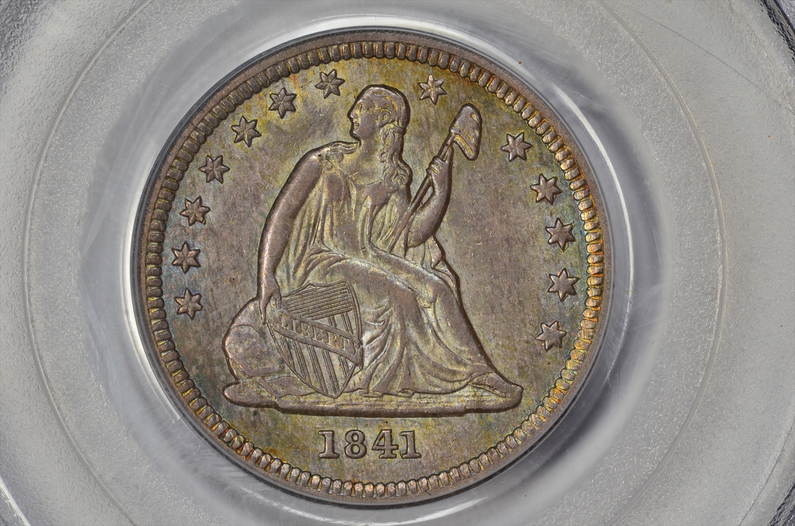 GFRC Open Set Registry - BIG BLUE 1841 Seated  25C