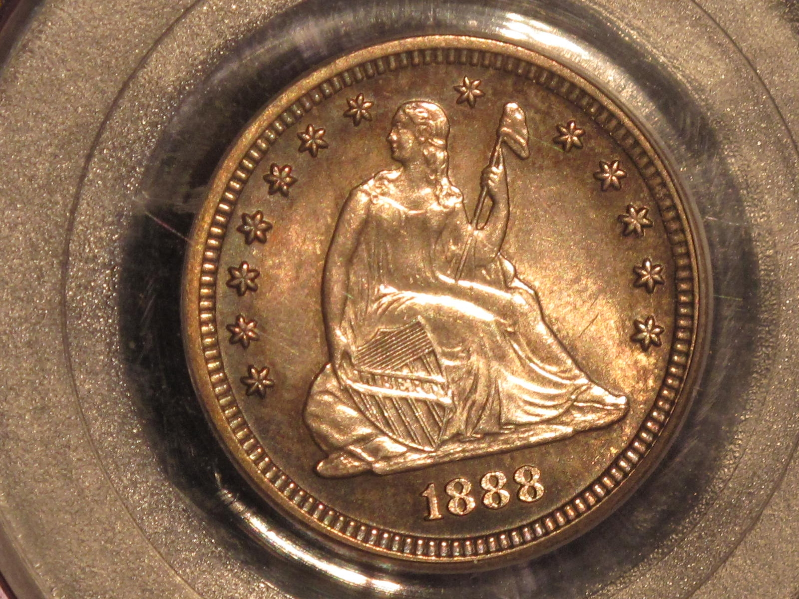 GFRC Open Set Registry - BIG BLUE 1888 Seated  25C