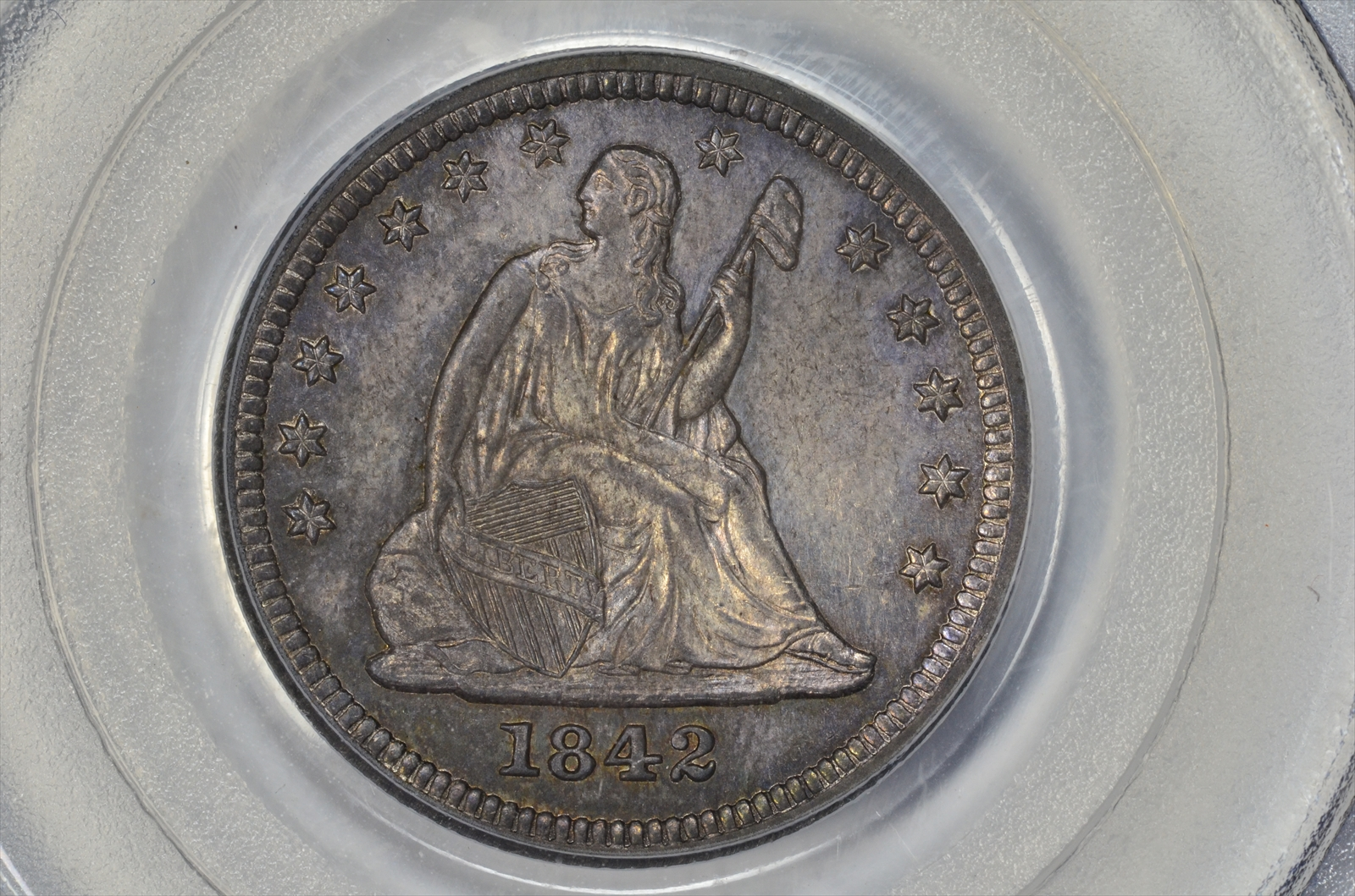 GFRC Open Set Registry - BIG BLUE 1842 Seated  25C