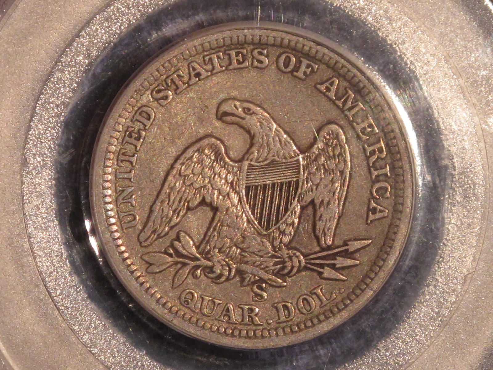 GFRC Open Set Registry - BIG BLUE 1858 Seated  25C