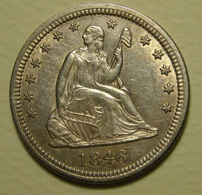 GFRC Open Set Registry - BIG BLUE 1846 Seated  25C