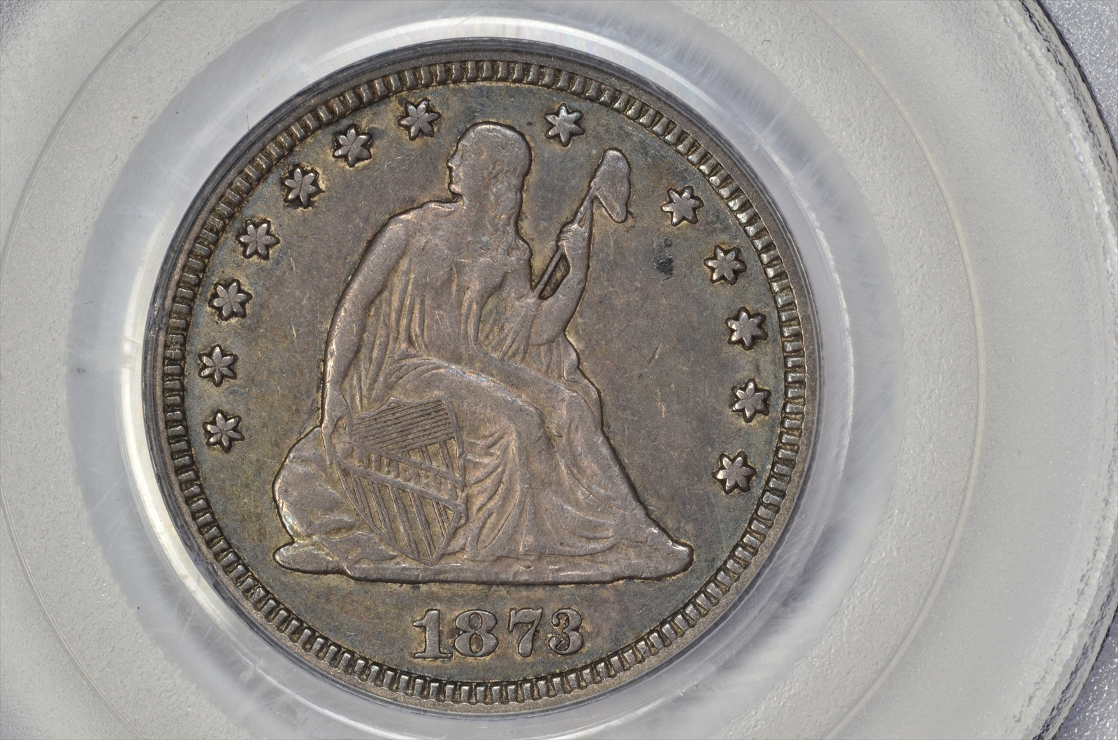 GFRC Open Set Registry - BIG BLUE 1873 Seated No Arrows 25C