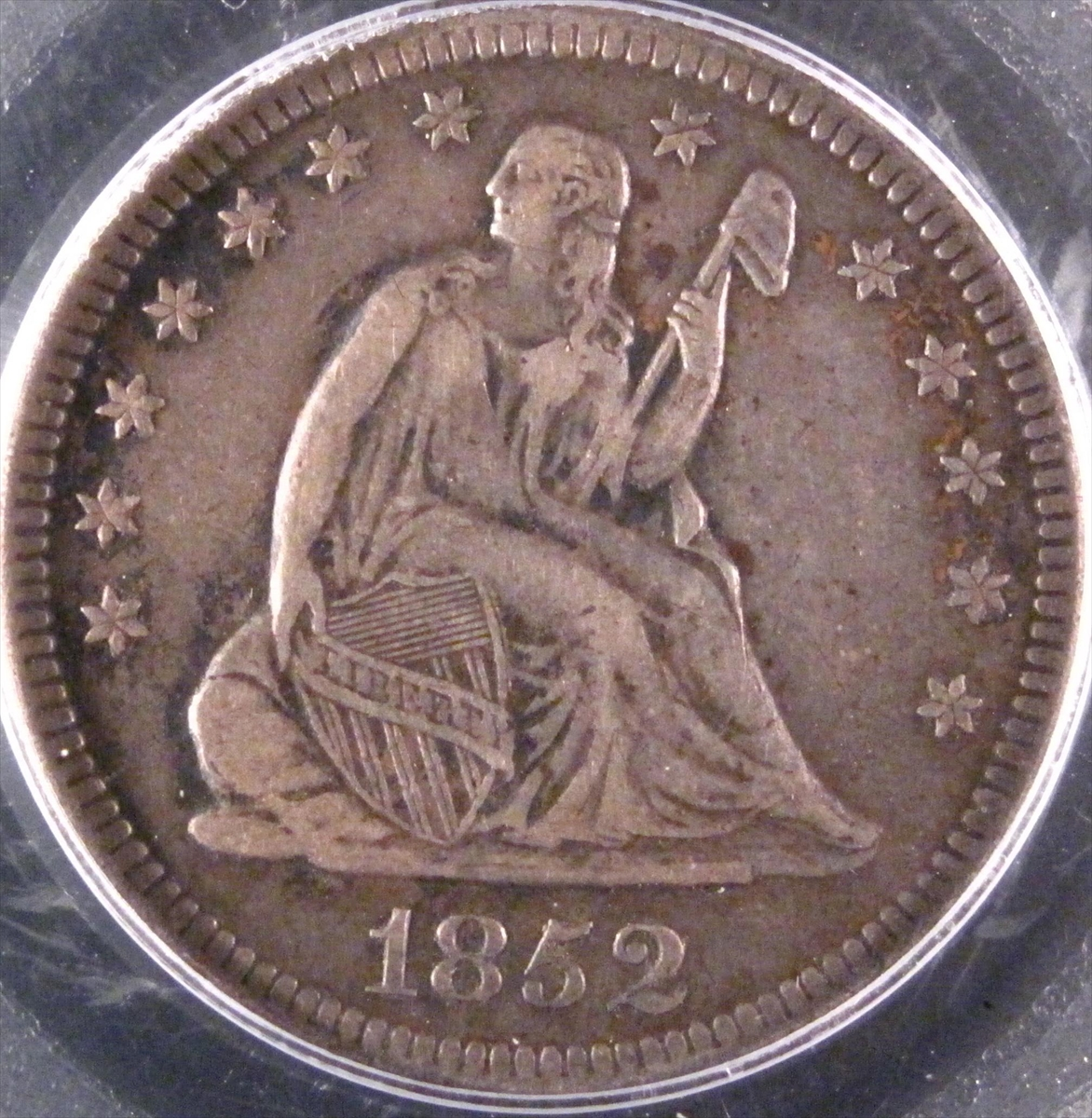 GFRC Open Set Registry - BIG BLUE 1852 Seated  25C