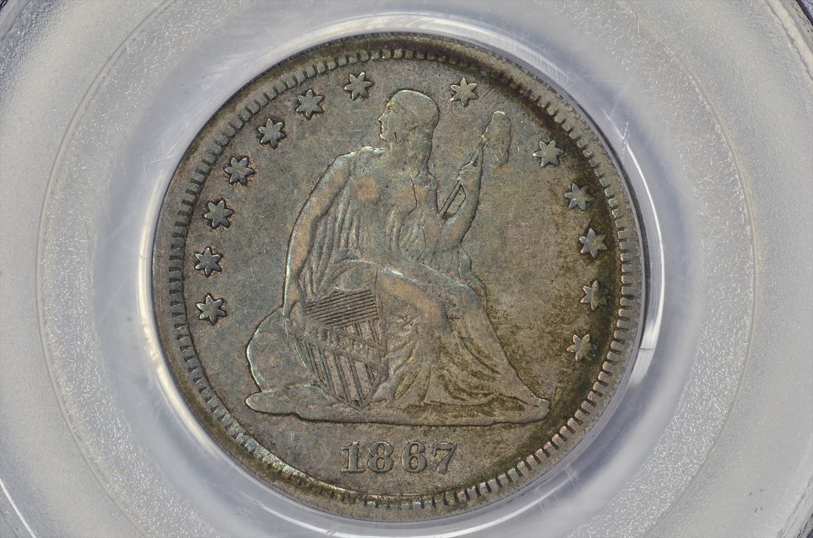 GFRC Open Set Registry - BIG BLUE 1867 Seated  25C