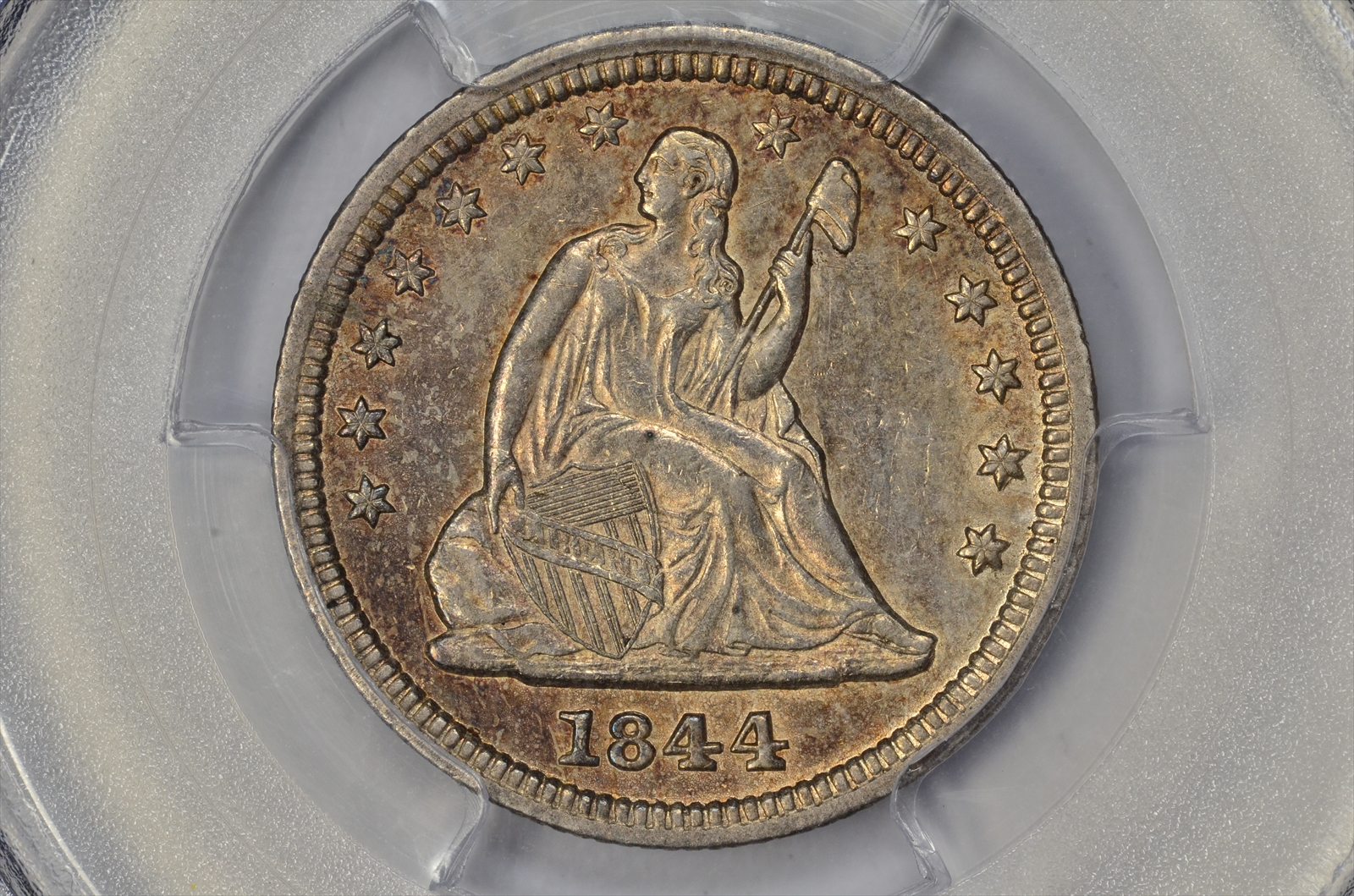 GFRC Open Set Registry - BIG BLUE 1844 Seated  25C