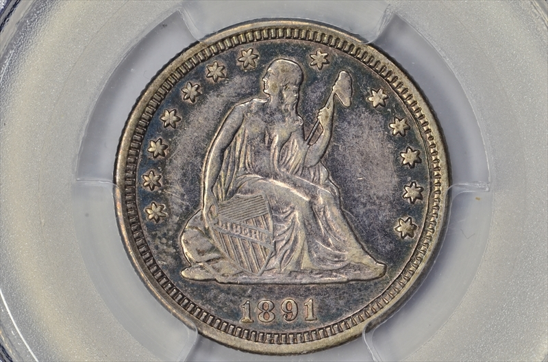 GFRC Open Set Registry - BIG BLUE 1891 Seated  25C