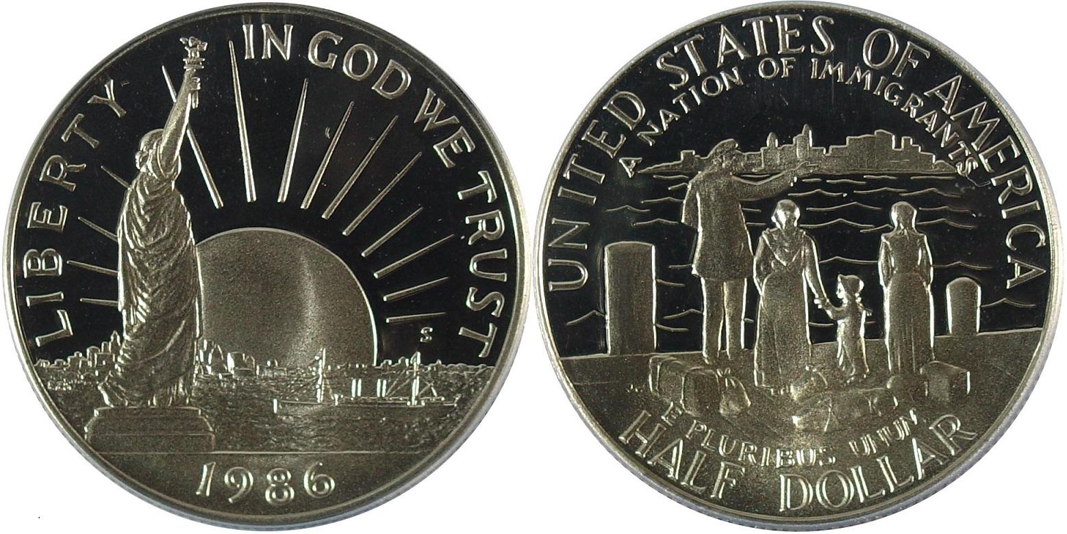 1986-S PCGS PR69DCAM Statue Of Liberty Commemorative Dollar Classic Label