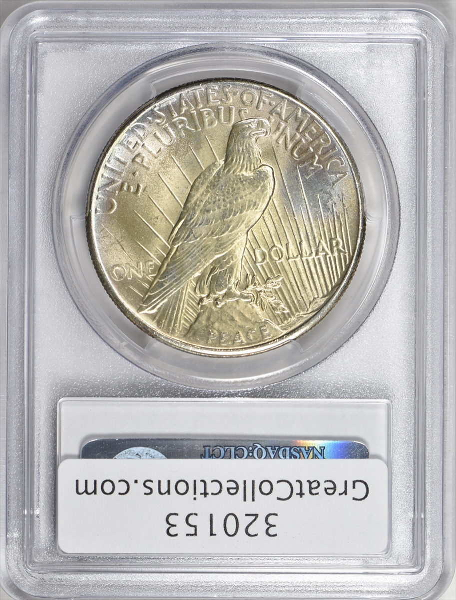 """1923 Peace Dollar Silver Graded MS-65 /""""Bright and Lustrous/"""",a beauty......."""