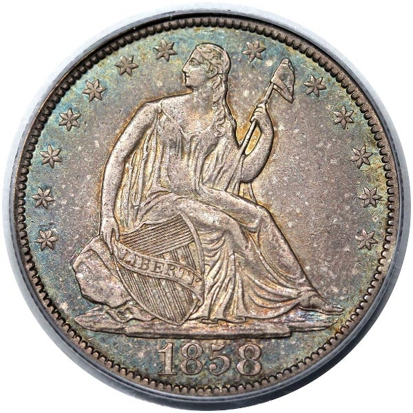 GFRC Open Set Registry - White Pine 1858 Seated  50C