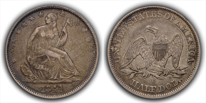GFRC Open Set Registry - White Pine 1844 Seated  50C