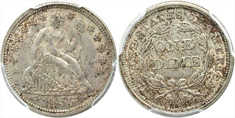 GFRC Open Set Registry - White Pine 1853-1855 Seated With Arrows 10C
