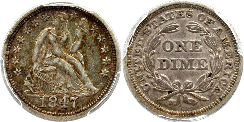 GFRC Open Set Registry - White Pine 1840-1853 Seated With Drapery 10C