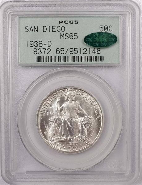 GFRC Open Set Registry - Winesteven 1935 - 1936 Early Commemorative San Diego 50C