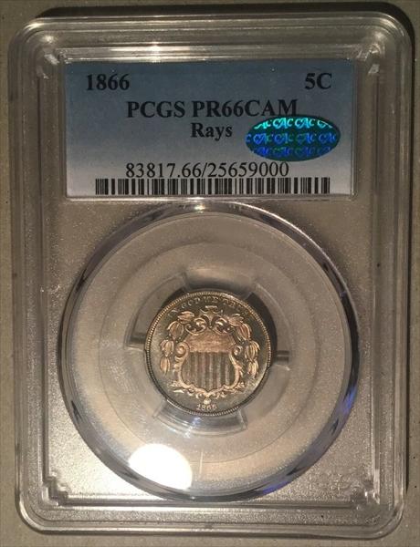 GFRC Open Set Registry - Winesteven 1866-1867 Shield Rays 5C