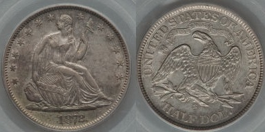 GFRC Open Set Registry - Seal Beach 1872 Seated  50C