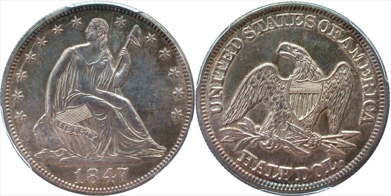 GFRC Open Set Registry - Seal Beach 1847 Seated  50C
