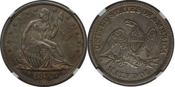 GFRC Open Set Registry - Seal Beach 1857 Seated  50C