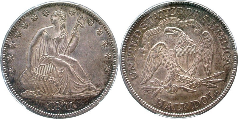 GFRC Open Set Registry - Seal Beach 1871 Seated  50C