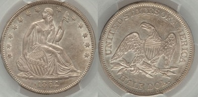 GFRC Open Set Registry - Seal Beach 1864 Seated  50C