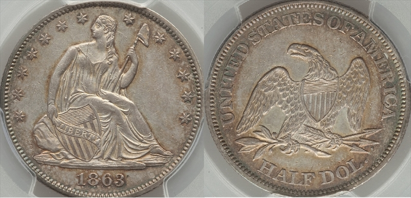 GFRC Open Set Registry - Seal Beach 1863 Seated  50C