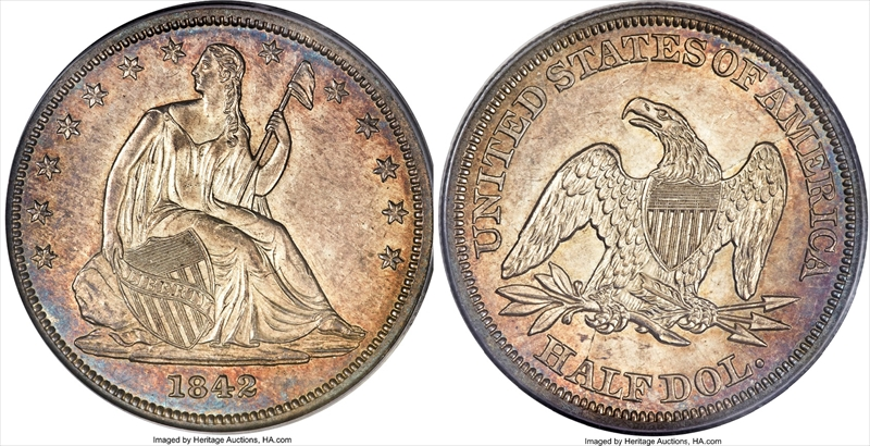 GFRC Open Set Registry - Seal Beach 1842 Seated  50C