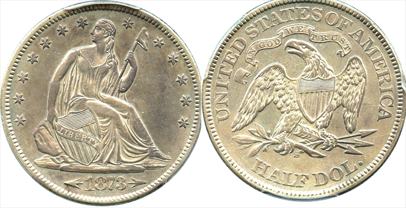 GFRC Open Set Registry - Seal Beach 1873 Seated With Arrows 50C