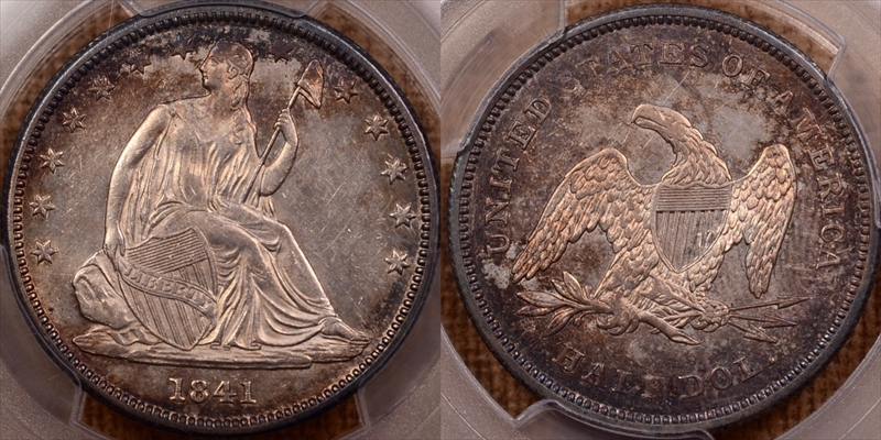 GFRC Open Set Registry - Seal Beach 1841 Seated  50C