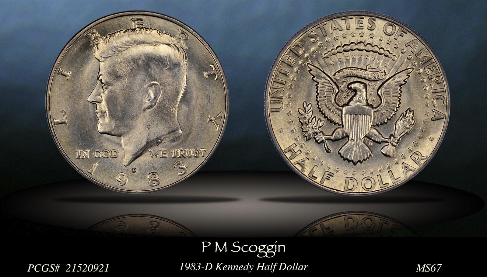 20 1983 BU Roll Kennedy Half Dollar Coins 50c US Coins Philadelphia Clad