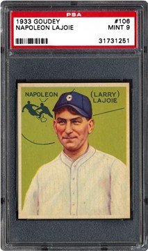 1933 Goudey 106 Napoleon Lajoie
