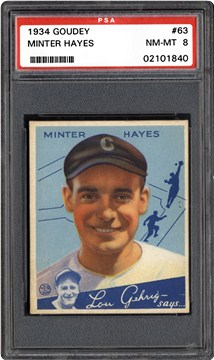 1934 Goudey 63 Minter Hayes