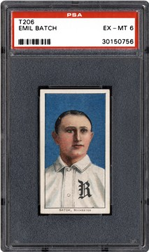 1909-1911 T206 Unknown Back Emil Batch