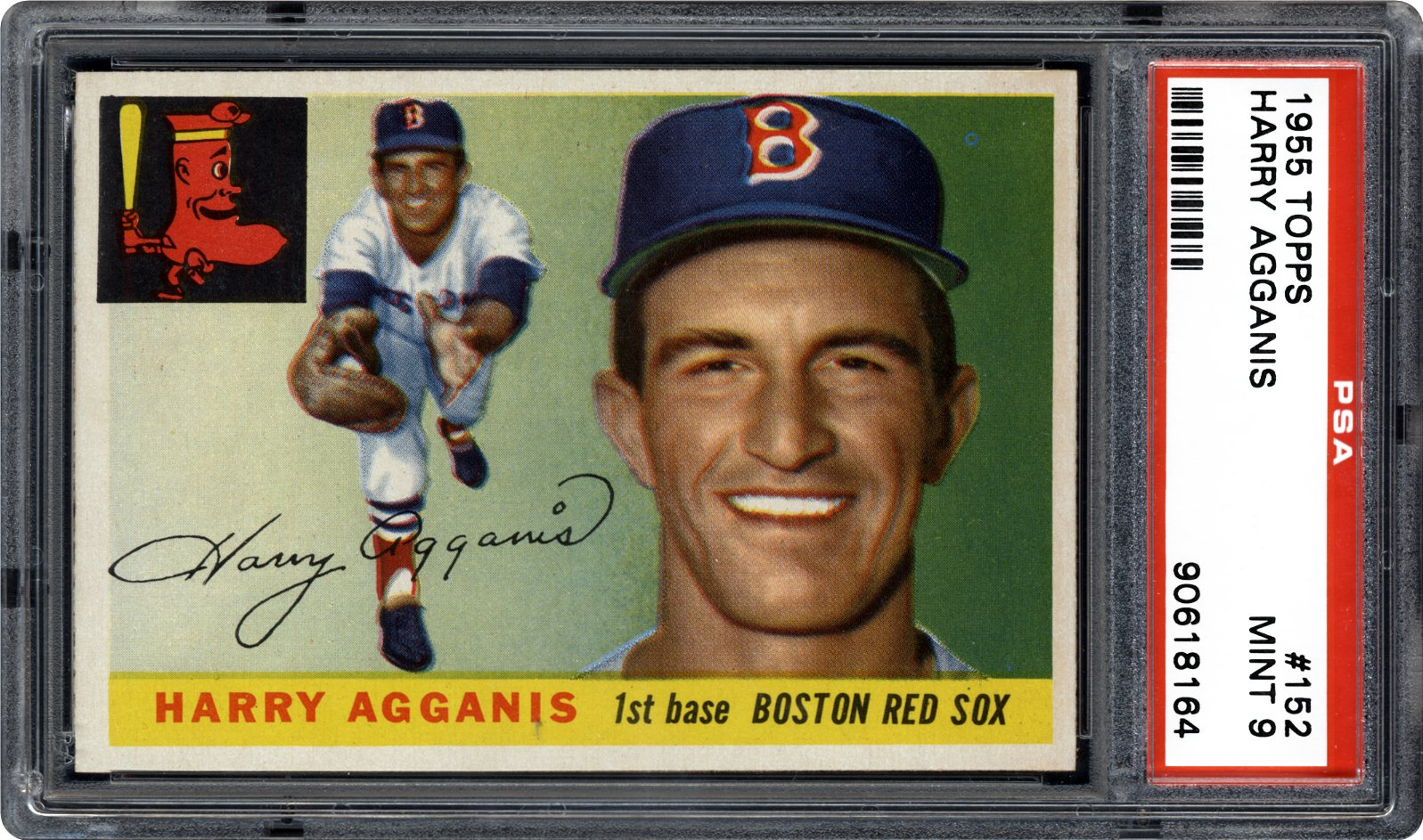 1955 Topps 152 Harry Agganis