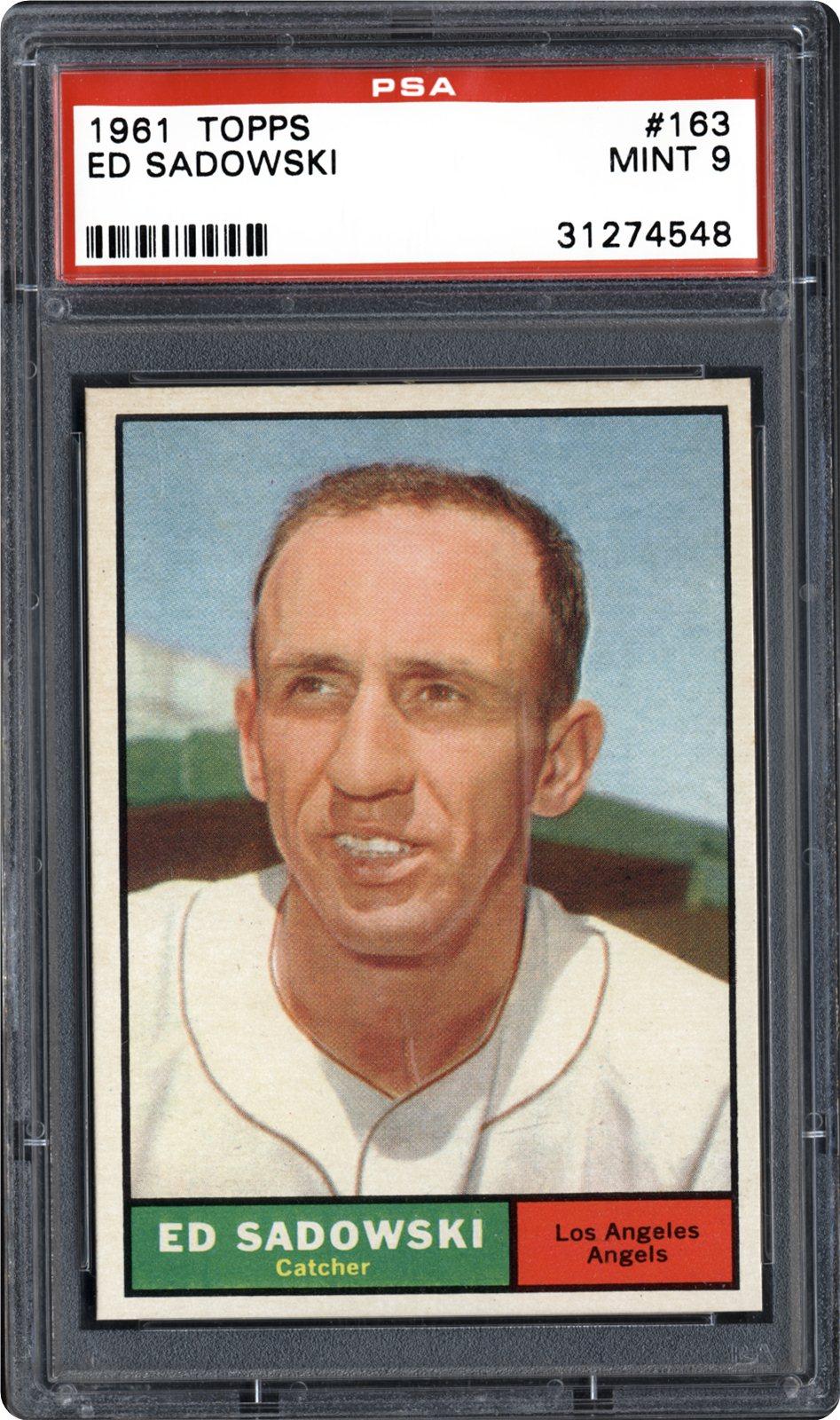 1961 Topps 163 Ed Sadowski