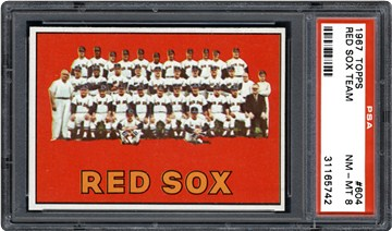 1967 Topps 604 Red Sox Team