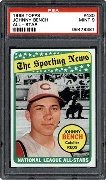 1969 Topps Johnny Bench All Star Psa Cardfacts