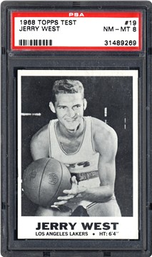 1968 Topps Test 19 Jerry West