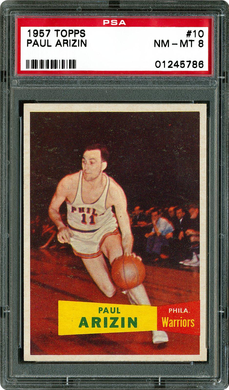 1957 Topps 10 Paul Arizin