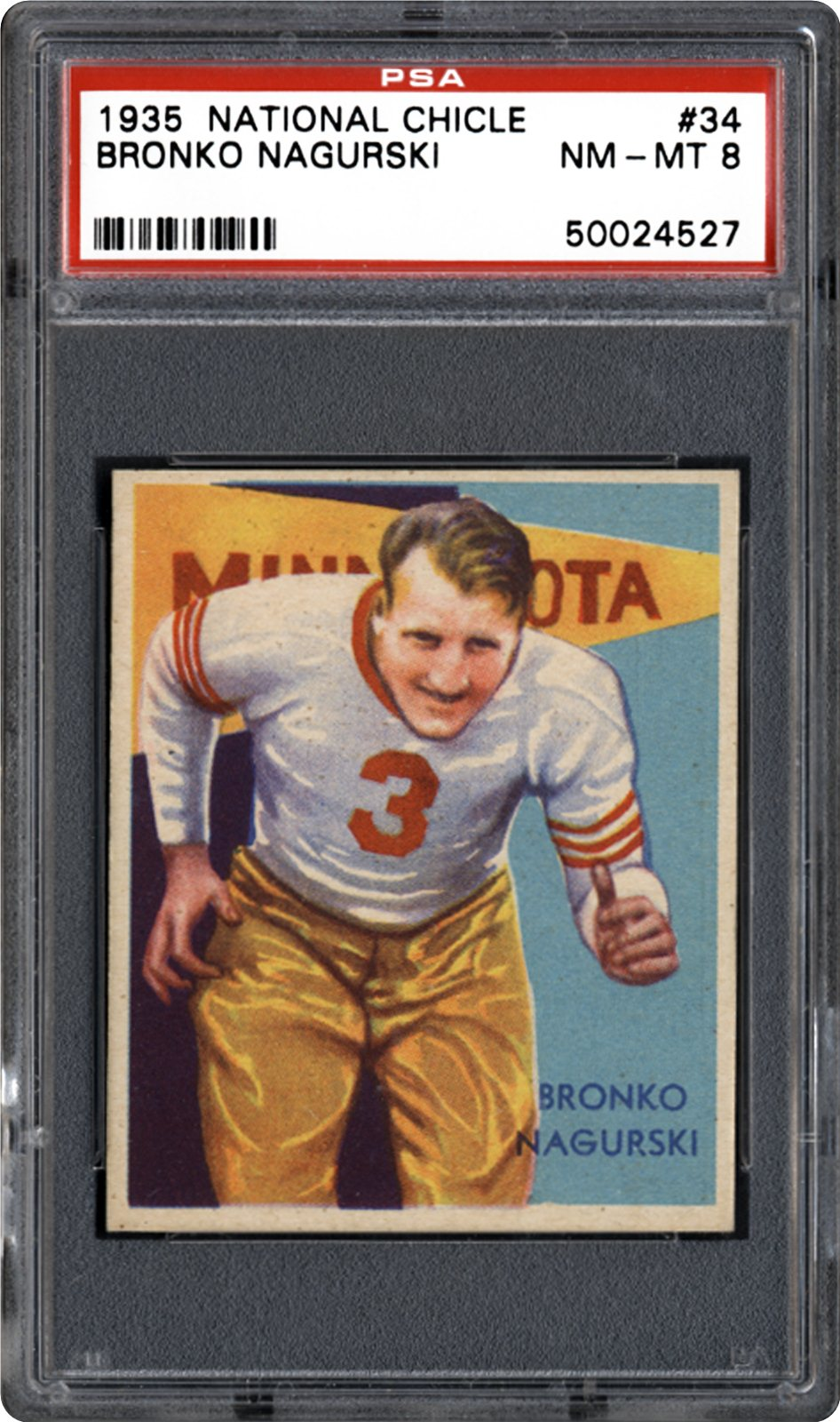 1935 National Chicle 34 Bronko Nagurski