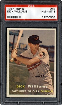 1957 Topps 59 Dick Williams