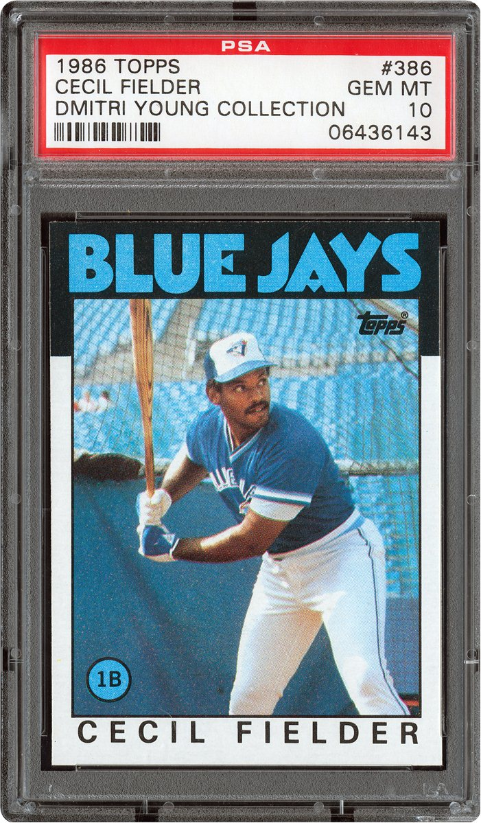 Cecil Fielder Baseball Card 1986 topps 386 cecil fielderCecil Fielder Baseball Card