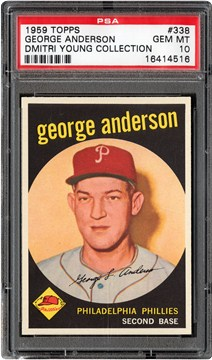 1959 Topps 338 George Anderson