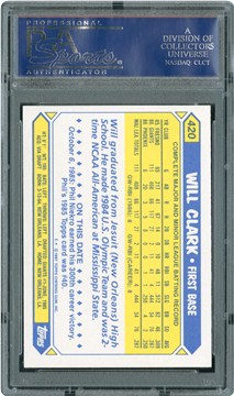 1987 Topps Tiffany 420 Will Clark