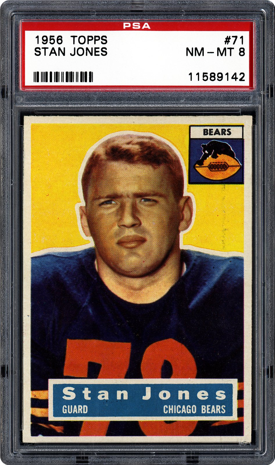 1956 Topps Stan Jones   PSA CardFacts™