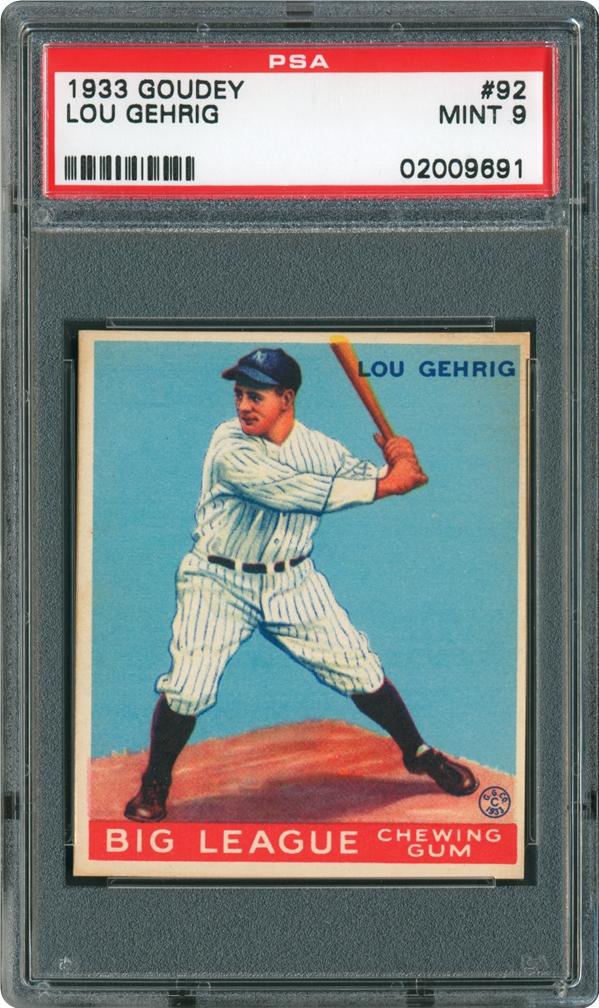 1933 Goudey 92 Lou Gehrig